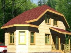 Дом из бруса 8х9,5 с отличной планировкой