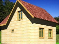 Дом из бруса 6х9 с отличной планировкой