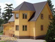 Построить дом из бруса 9,5 на 11 с мансардой