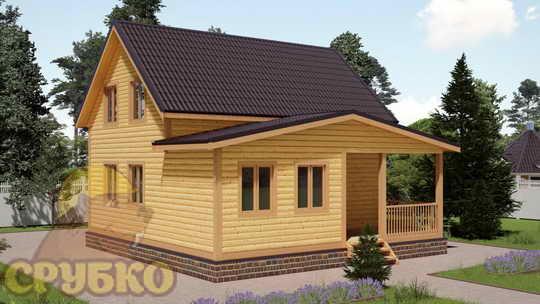 Дом 8 х8 с отличной планировкой недорого