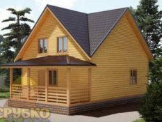 Дом из бруса 7х10 с террасой