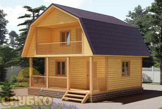 Построить дешевый дом из бруса 6х6