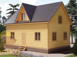 Дом из бруса 6х8 с кукушкой