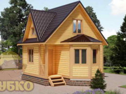 Дом из бруса 6х6 с кукушкой