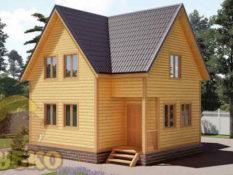Дом из бруса 7х8 с верандой