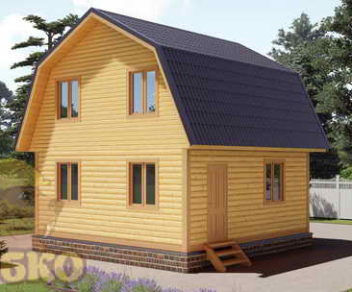 Деревянный дом 6х6 из бруса