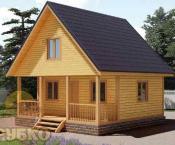 Типовой дом из бруса 6х6