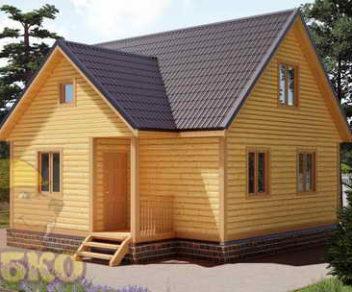 Дом из бруса 7,5х8 с отличной планировкой